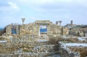 Ruinas de un templo griego — Foto de Stock