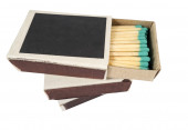 Matches in box — Stock Photo