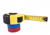 The insulating tape and tape measure — Stock Photo