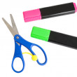 Scissors and markers — Stock Photo #71863211