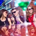 Company having fun in the night bar — Stock Photo #53710489
