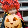 Boy in a witch costume — Stock Photo #53802187