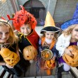 Children in halloween costumes — Stock Photo #53801365