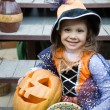 Girl in a witch costume — Stock Photo #53801793