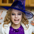 Girl in  witch costume — Stock Photo #53802459