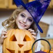 Girl in a witch costume — Stock Photo #53802813