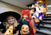 Children in halloween costumes — Stok fotoğraf