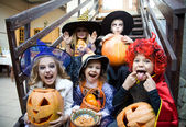 Children curve faces in fairy costume — Zdjęcie stockowe