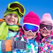 Children playing on snow — Stock Photo #54802155