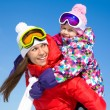 Woman with cute little girl in wintertime — Stock Photo #54802303
