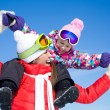 Woman with cute little girl in wintertime — Stock Photo #54802341