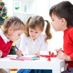 Children  write a letter to Santa — Stock Photo #58670471