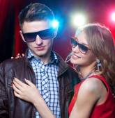Couple on night party — Stock Photo