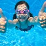 Underwater portrait of girl — Stock Photo #78401280
