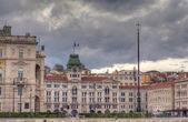 Rathaus, triest — Stockfoto