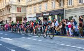 Cyklista, giro d'italia — Stock fotografie