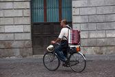Gypsy biker, Padova — Stock Photo