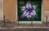 Obturador pintado — Foto de Stock