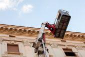 Mobile elevating work platform machine — Stock Photo