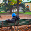 Man sitting on the bench — Stock Photo #67004903