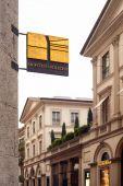 Montenapoleone street in Milan — Stock Photo