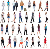 Going people in motion set. — Stock Photo