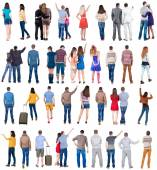 Back view of group people — Stock Photo