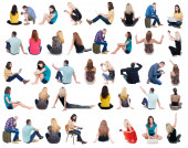 Back view of sitting people. — Stock Photo