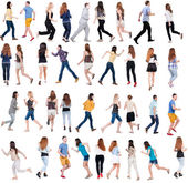 """Collection """" back view of running people"""" — Stock Photo"""