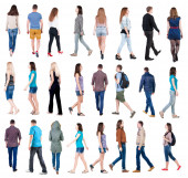 Going people in motion set — Stock Photo