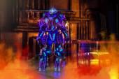 Futuristische roboter — Stockfoto