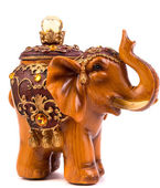 Ahşap fil heykelcik — Stok fotoğraf