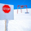 High mountains warning sign — Stock Photo #62203013