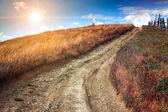 Fantastic sunny hills — Stock Photo