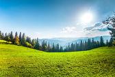 Fantastic sunny hills. — Stock Photo
