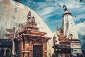 Swayambhunath Monkey templ — Stock Photo