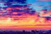Orange sunset — Stock Photo
