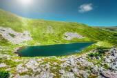 High mountain lake — Stock Photo