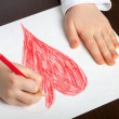 Child draws — Stock Photo #69524799