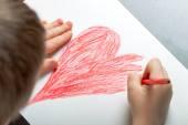 Child draws — Stock Photo