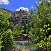 Fontaine de Vaucluse — Stock Photo