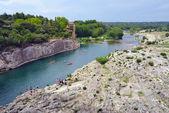Gard river — Stock Photo