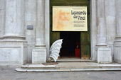Leonardo da Vinci Exhibitions — Stock Photo