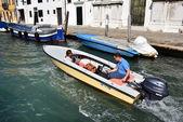 Venice water boat — Stock Photo