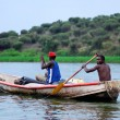 Two fishermen on the Nile — Stock Photo #66732953