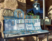Israeli Souvenirs on display — Stock Photo