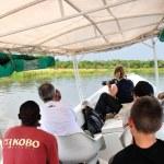 Safari on the White Nile River in Uganda — Stock Photo #78822440