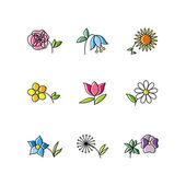 набор цветов — Cтоковый вектор