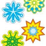 Decorative Snowflakes — Stock Vector #58287291