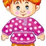 Boy in a pink shirt — Stock Vector #58287389